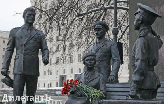"""Памятник сцене из фильма """"офицеры"""""""