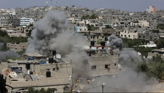Бомбежка Газы